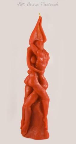 Kochankowie świeca rytualna czerwona