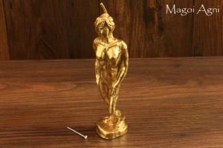 Bardzo silna rytualna, wizerunkowa, złota świeca kobieta Magoi Agni